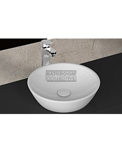 Paco Jaanson - Isvea Soluzione 450mm Round Bench Mounted Vessel Basin Gloss White
