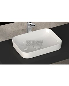 Paco Jaanson - Isvea Sott Aqua 500mm Bench Mounted Vessel Basin Gloss White
