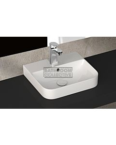 Paco Jaanson - Isvea Sott Aqua Sharp 480mm Wall / Bench Mounted Basin 1TH Gloss White