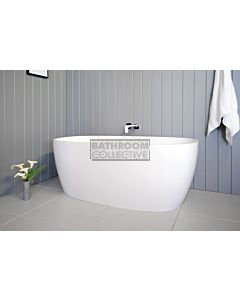 ADP - Submerge 1600mm Cast Marble Freestanding Bath BRIGHT WHITE