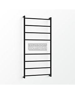 Avenir - Fluid 1300x600mm Heated Towel Ladder - Matte Black