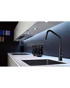 Linsol - Elias Kitchen Sink Mixer with Pull Out Spray Matte Black