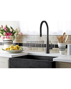 Linsol - Giacomo Kitchen Sink Mixer with Pull Out Spray MATTE BLACK