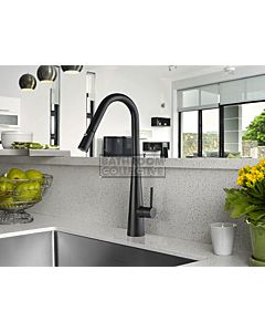Linsol - Aria Pull Out Sink Mixer Matte Black