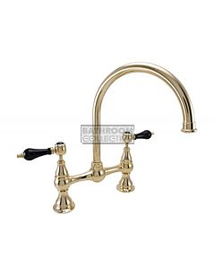 1901 Federation Kitchen Bridging Tap with Gooseneck Spout - Gold