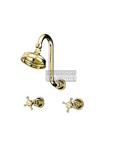 Bastow Tapware - Victorian Shower Tap Set, Lever Handles CHROME