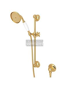 Nicolazzi - Traditional Sliding Rail with Handshower in Gold with Elbow