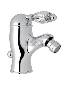Nicolazzi - 3403 Bidet Mixer Tap with Pop Up Waste in Chrome with Crystal Handle