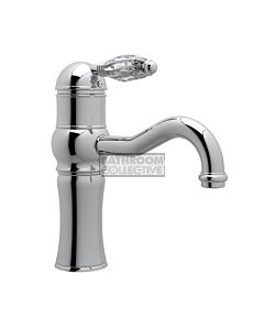 Nicolazzi - 3471 Basin Mixer Tap with Traditional Spout in Chrome with Crystal Handle
