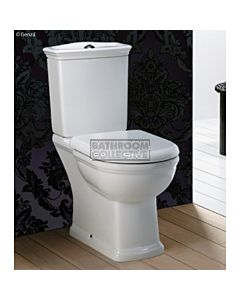 RAK - Traditional Washington Closed Coupled Toilet (Bottom Inlet P Trap)